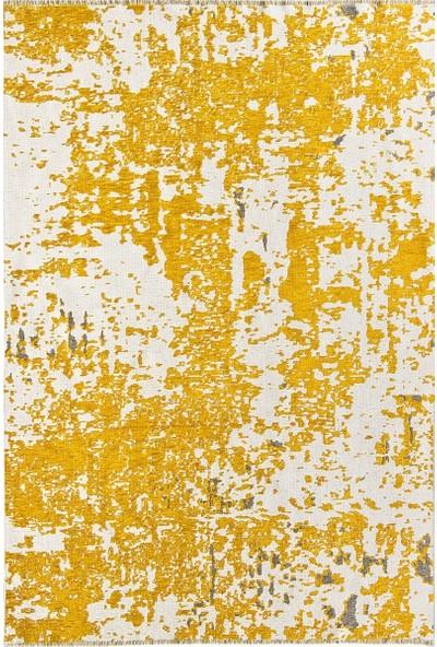Crea Halı Perla Çift Taraflı Kilim 3500 Sarı Gri