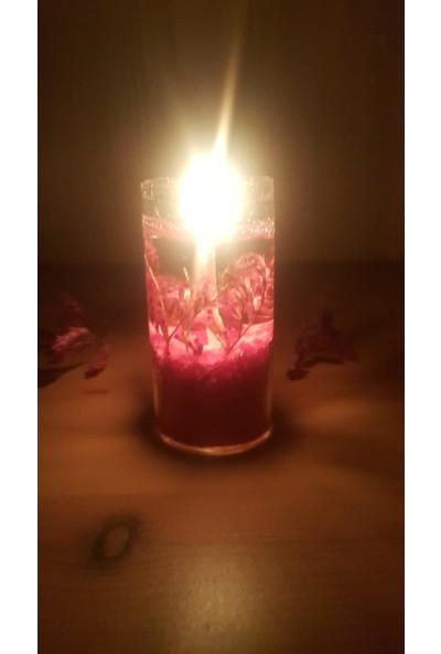 Mila Mantarlı Tüp Şişede Çiçekli Kokulu Jel Mum