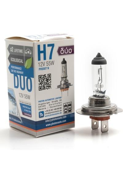 Photon H7 12V 55W Duo +%20 Fazla Işık