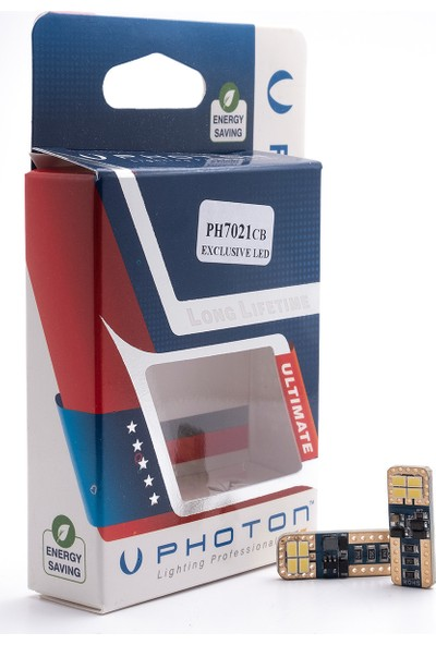Photon W5W T10 Ph7021 Can-Bus Özel Plaka Led