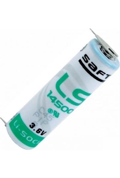 Saft LS14500-2PF 3.6V Aa Lithium Kalem Pil / 2 Ayaklı Pil