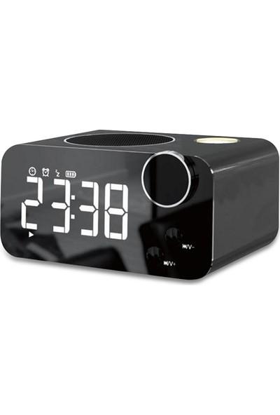 Musky DY39 Bluetooth Mp3 Müzik Çalar Fm Radyo Alarmlı Masa Saati