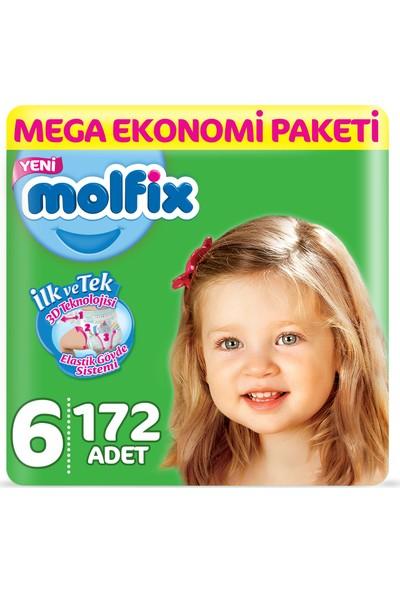 Molfix Bebek Bezi 6 Beden E.Large Mega Ekonomi Paketi 172 Adet