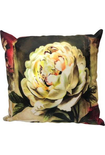 Rasha Home Çiçek Dijital Baskılı Dekoratif Kırlent KILIFI-ASK22