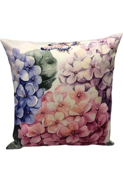 Rasha Home Çiçek Dijital Baskılı Dekoratif Kırlent KILIFI-ASK28