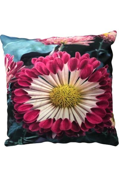 Rasha Home Çiçek Dijital Baskılı Dekoratif Kırlent KILIFI-ASK33