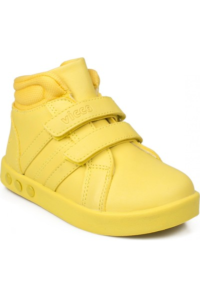 Vicco 313.P19K.104 Patik İşıklı Cırtlı Sarı Çocuk Bot