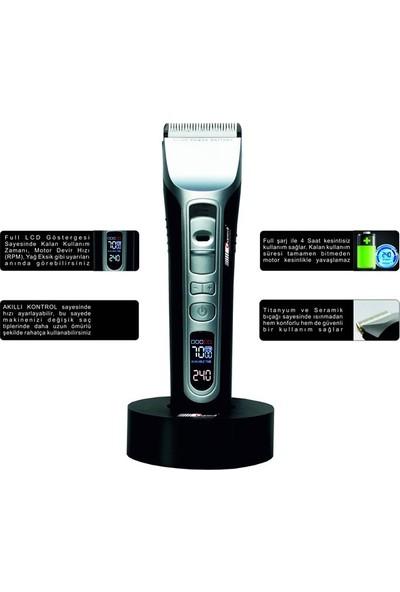 Charmvıt Professıonal 5000 Dıgıtal Saç Sakal Kesme Makinesi - Beyaz