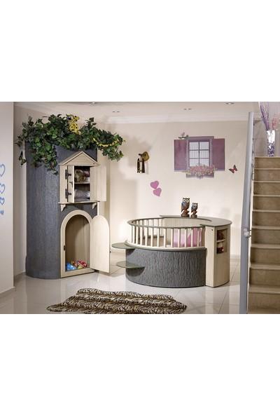 Prestij Çınar Bebek Odası 3 Kapılı Dolap