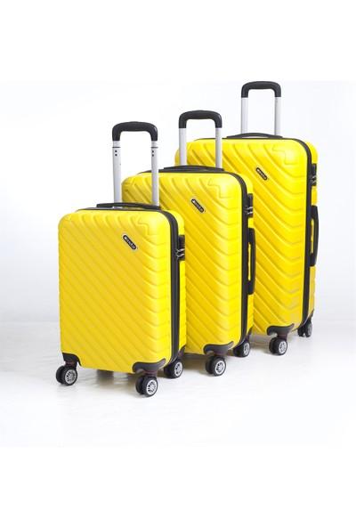 Anka Av 1001 Abs Valiz Seti Sarı