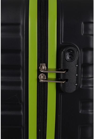 Ççs Nc 092 Abs Büyük Boy Valiz Siyah Yeşil