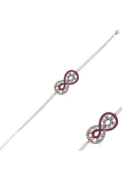 Nayino Takı Sonsuzluk Gümüş Rose Bileklik