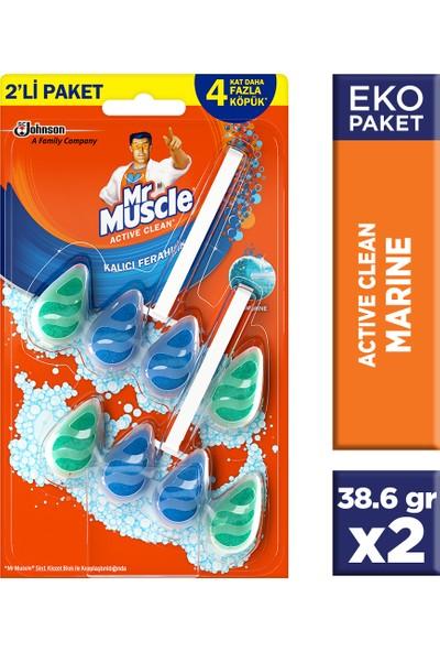 Mr Muscle Active Clean Klozet Blok Marine 2'li