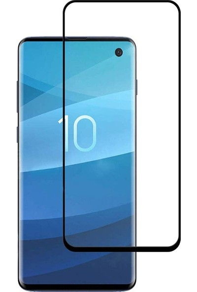 Dafoni Samsung Galaxy S10 Plus Curve Tempered Glass Premium Şeffaf Full Cam Ekran Koruyucu