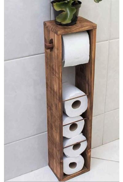 Bitirdin Wc Kağıtlık Tuvalet Kağıtlığı Ahşap Banyo