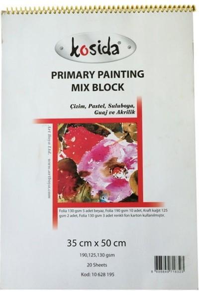 Ponart Kosida Primary Painting Mix Block 35X50 Karma Resim Defteri