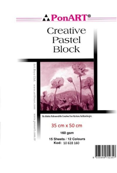 Ponart Creative Pastel Blok Spralli Resim Defteri 35X50 Cm. Karışık Renkli 15 Yaprak