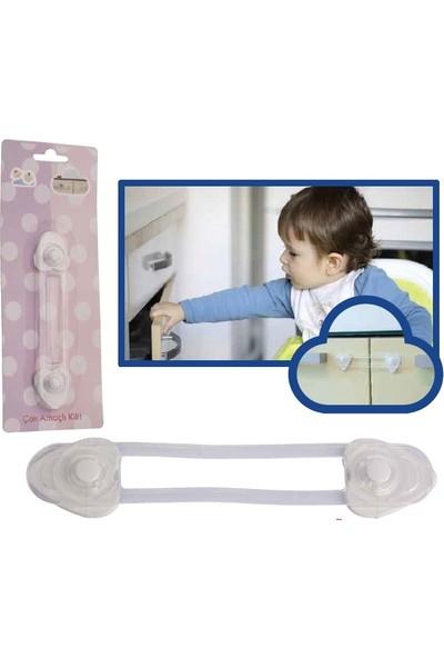 Minisium Çocuk Güvenlik Ürünü ( Büyük Çok Amaçlı Kilit - Dolap Vs. Kapak Kilidi ) - Paket Içi 1 Adet