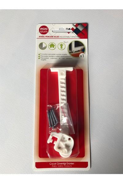 Minisium Çocuk Güvenlik Ürünü ( Ayarlı Pencere Kilidi ) - Paket Içi 1 Adet