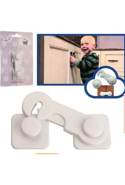 Minisium Çocuk Güvenlik Ürünü ( Geçmeli Kapak Kilidi - Dolap Vs. Kapak Kilidi ) - Paket Içi 1 Adet