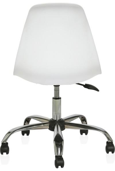 Seduna Eames Beyaz Ofis Çalışma Koltuğu - Bilgisayar Koltuğu