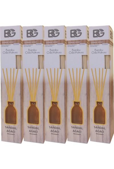 Bambu Çubuklu Oda Kokusu-Sandal Ağacı 5 Adet - 55 ml