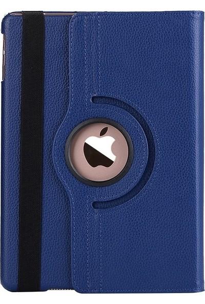 """EssLeena Apple iPad 3.Nesil (2012 Başı) 9.7"""" (A1416/A1430/A1403) 360 Derece Dönebilen Powers Kılıf + 330 Derece Nano Cam + Kulaklık + Aux + Şarj Kablosu + Kalem Lacivert"""