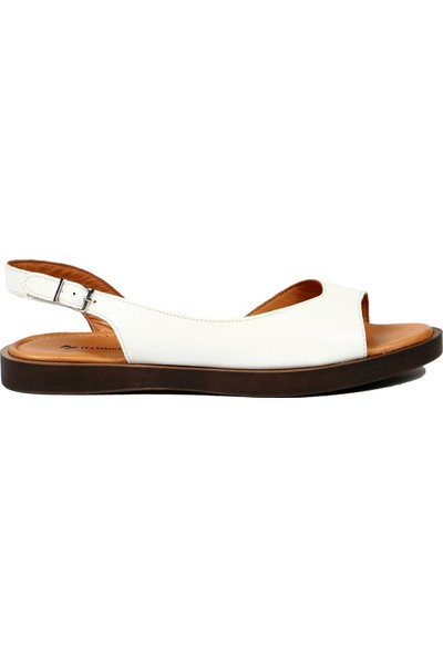 Hammer Jack Beyaz Kadın Terlik Sandalet 542 565-Z