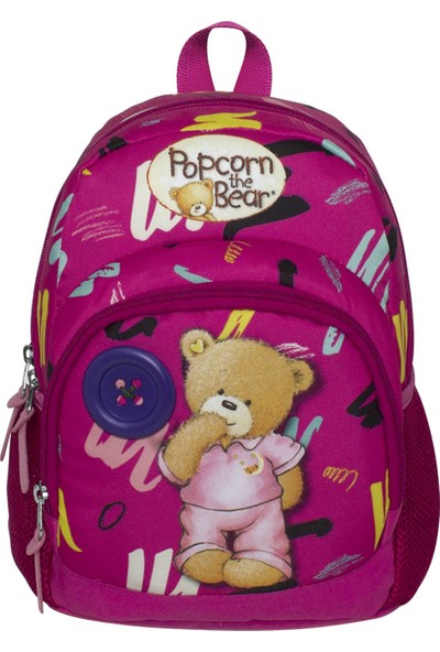 Ümit Çanta Popcorn The Bear Iki Bölmeli Pembe Kız Çocuk Anaokulu Çantası 2166