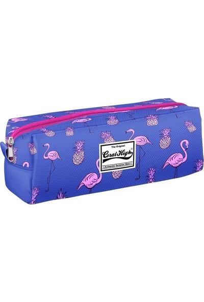 Yaygan Coral High Flamingo Baskılı Mavi Kalem Çanta - Kız Çocuk