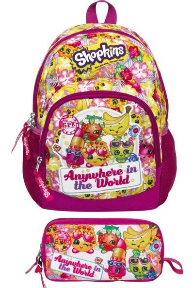 Ümit Çanta Shopkins (Cicibiciler) Renkli Anaokul Çantası ve Kalemlik Set