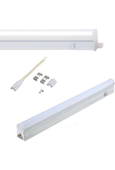 Lamptıme T5 Led Bant Armatür 8W 60Cm Beyaz Işık Anahtarlı 301642
