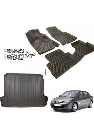 Carx Renault Megane 2 Sedan 3D Havuzlu Oto Paspas ve 3D Bagaj Havuzu (2004-2009)