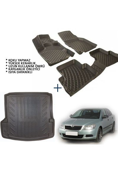 Carx Skoda Octavia Sedan 3D Havuzlu Oto Paspas ve 3D Bagaj Havuzu (2004-2012)