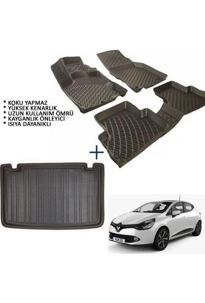 Carx Renault Clio 4 Hb 3D Havuzlu Oto Paspas ve 3D Bagaj Havuzu (2013 ve Sonrası)