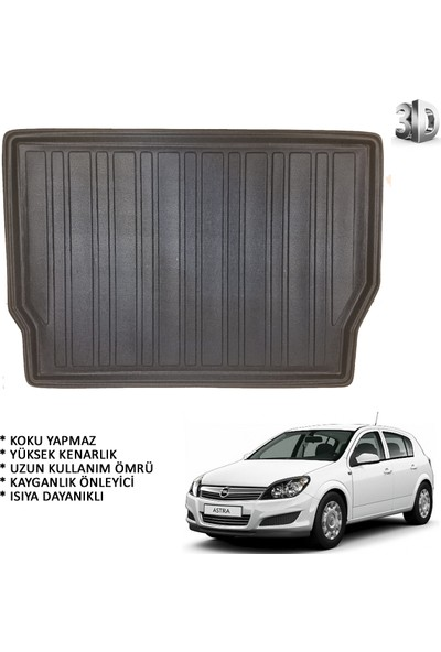 Carx Opel Astra H Hb 3D Havuzlu Oto Paspas ve 3D Bagaj Havuzu (2004-2012)