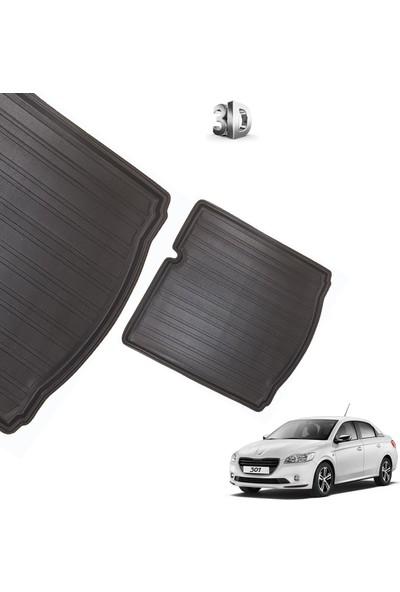 Carx Peugeot 301 Sedan 3D Havuzlu Oto Paspas ve 3D Bagaj Havuzu (2012 ve Sonrası)