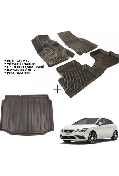 Carx Seat Leon Hb 3D Havuzlu Oto Paspas ve 3D Bagaj Havuzu (2013 ve Sonrası)