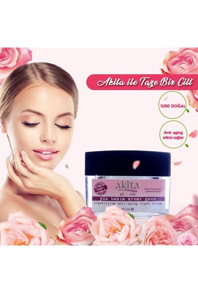 Akita % 100 Doğal Lipofilling Anti-Aging Yüz Kremi Gece Gül 50ML