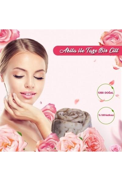 Akita % 100 Doğal El Yapımı Sabun Güllü 100GR