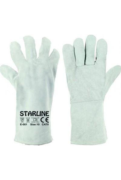 Starline Kaynakçı Eldiveni Yarma Deri 35 cm Uzun Tip