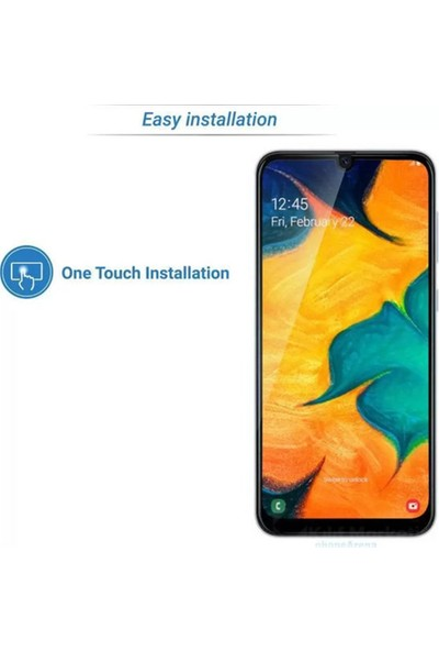 Zengin Çarşım Samsung Galaxy A30 Kavisli Tam Kaplayan 9D Ekran Koruyucu Film
