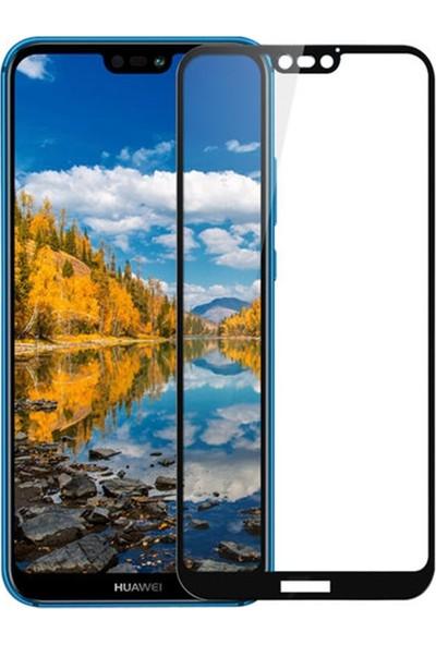 Zengin Çarşım Huawei P20 Lite Kavisli Tam Kaplayan 9D Ekran Koruyucu Film