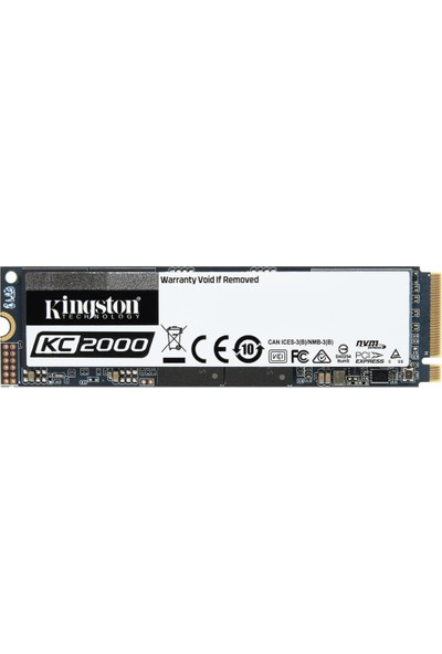 Kingston KC2000 250GB 3000MB/1100MB/s NVMe M.2 SSD (SKC2000M8/250G)