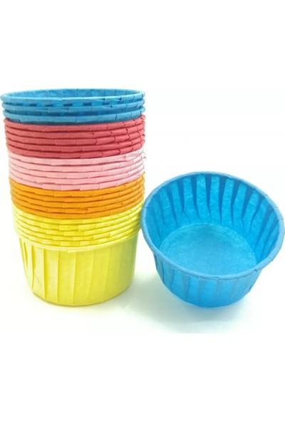Teracup Renkli Kek Kapsülü Muffin Kabı 25 Adet