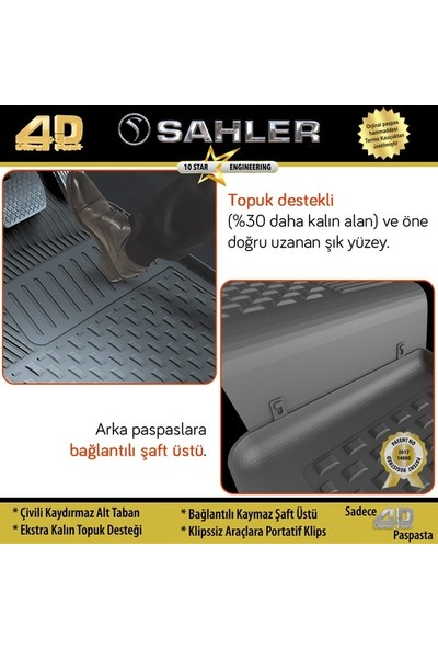 Sahler Audi A3 2013 - 2018 4.5d Paspas Siyah