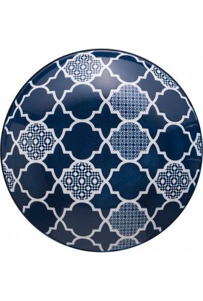 Jumbo Deep Blue Desenli Çukur Tabak 22 cm