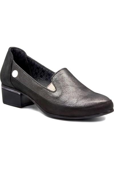 Mammamia D19KA 3325 Platin Kadın Topuklu Ayakkabı