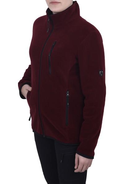 Ghassy Co.Kadın Polar Tam Fermuarlı Sweatshirt