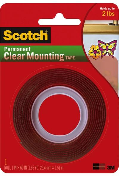 Scotch Şeffaf Çift Taraflı Montaj Bandı 4010